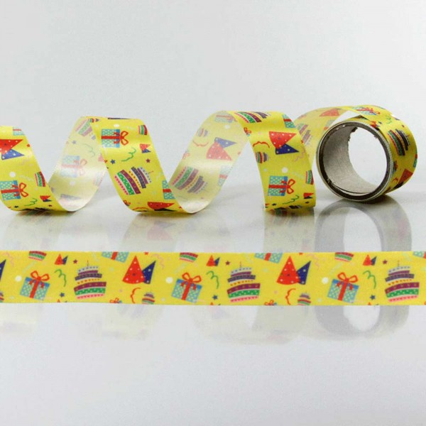 Gift Ribbon with design Birthday
