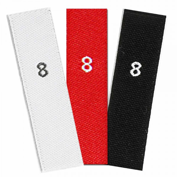 woven size labels - number 8