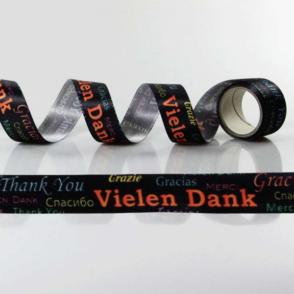 Gift Ribbon with design Vielen Dank / Thank you