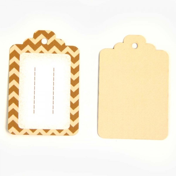 Hang tag ZigZag for self labelling