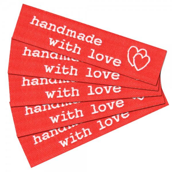 """Fix&Fertig - Étiquette textile """"handmade with love"""" 1"""