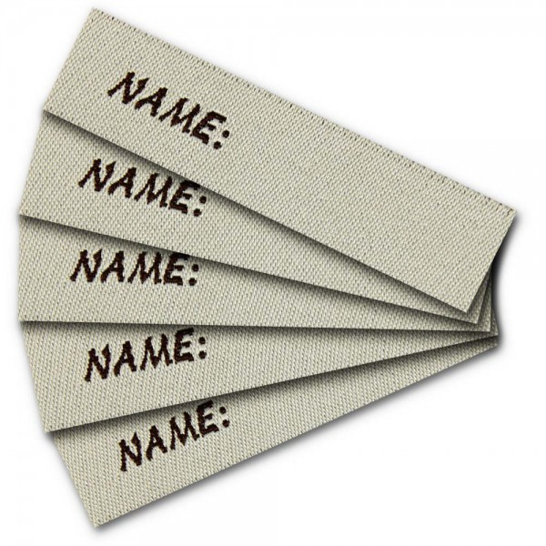 Namensetikett zum Beschriften Name