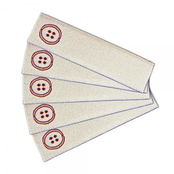 Textiletikett zum Beschriften Knopf, Webetikett