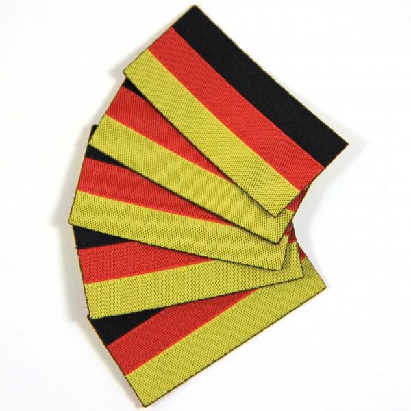 Bügeletiketten Deutsche Flagge, Textiletiketten