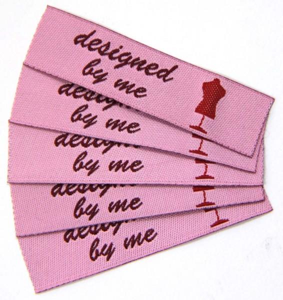 """Étiquette textile """"designed by me"""""""