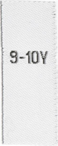 Größenetiketten für Kinder 9-10y