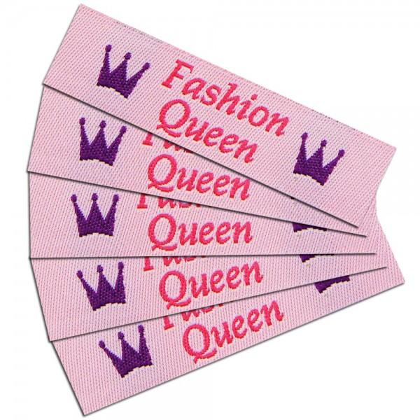 """Textiletiketten """"Fashion Queen"""", Webetiketten"""