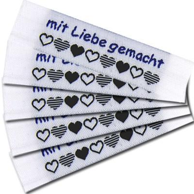"Fix&Fertig - Étiquette textile ""mit Liebe gemacht"" 1"