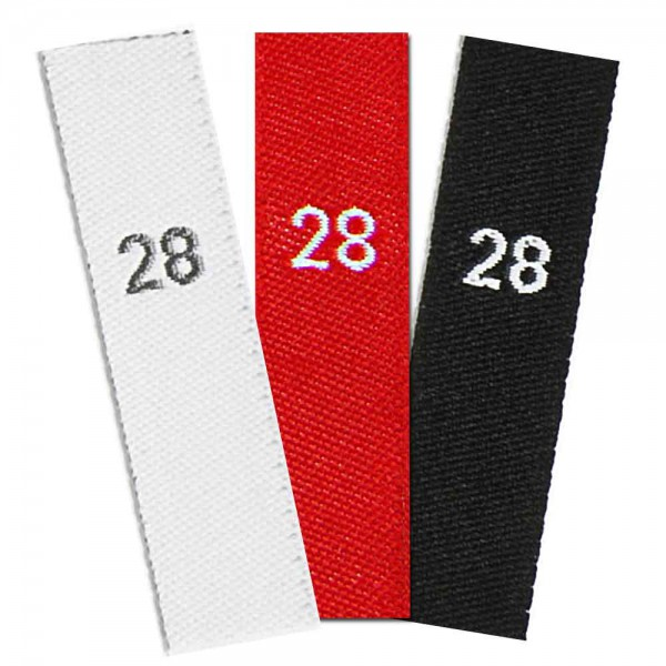 woven size labels - number 28