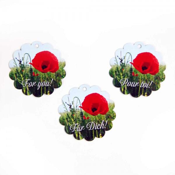 "Hang tag ""poppy flower"""