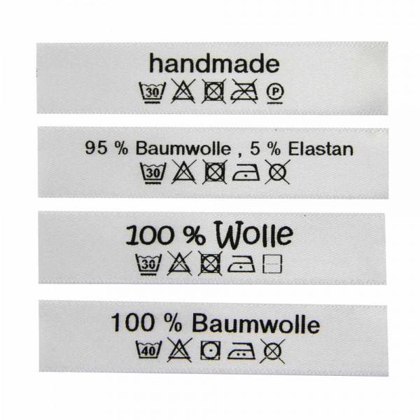 """Woven Label with design """"mit Liebe gemacht"""""""