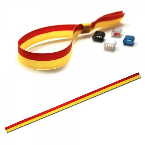 National- oder Vereinsarmband rot-gelb, Eintrittsband