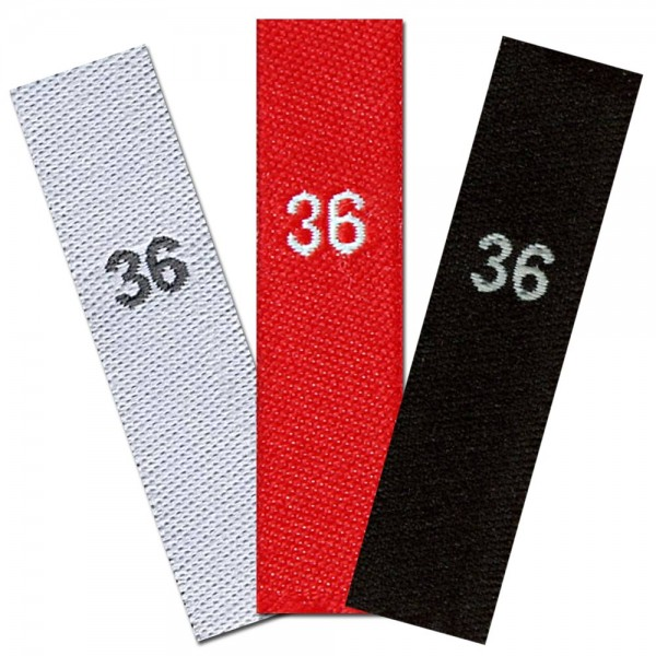 woven size labels - number 36