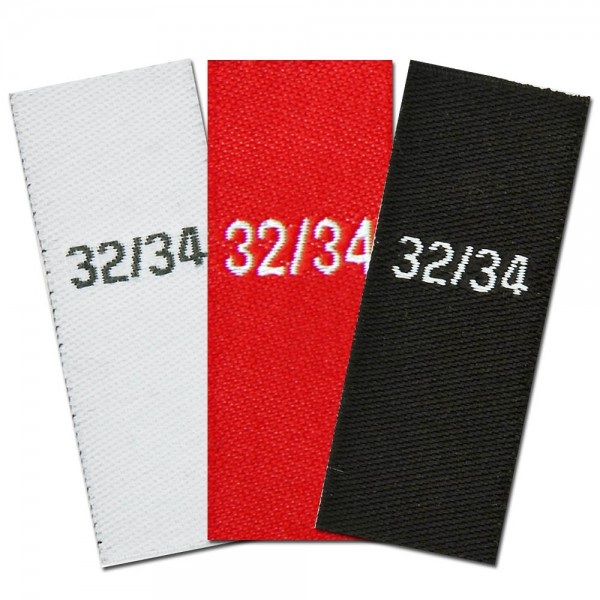 woven size labels - size 32/34
