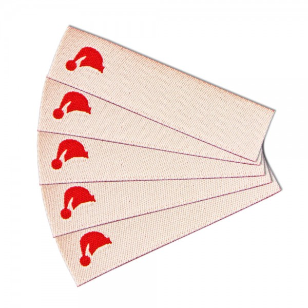 Textiletikett zum Beschriften Mütze, Bügeletiketten