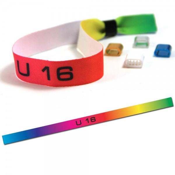 "Partyarmband ""U 16"" Design 3, Eintrittsband"