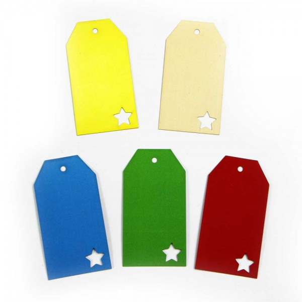 "Hang tag with the cutout ""star"""
