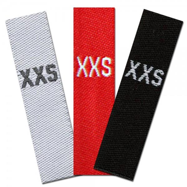 woven size labels - size XXS