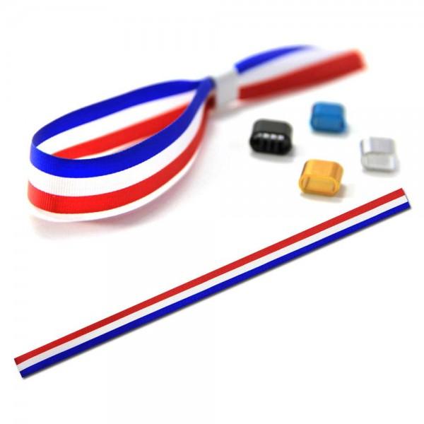 National- oder Vereinsarmband blau-weiß-rot, Eintrittsband