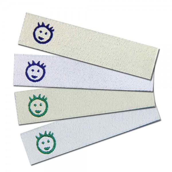 """Bügeletiketten zum Beschriften """"Junge"""", Textiletiketten"""