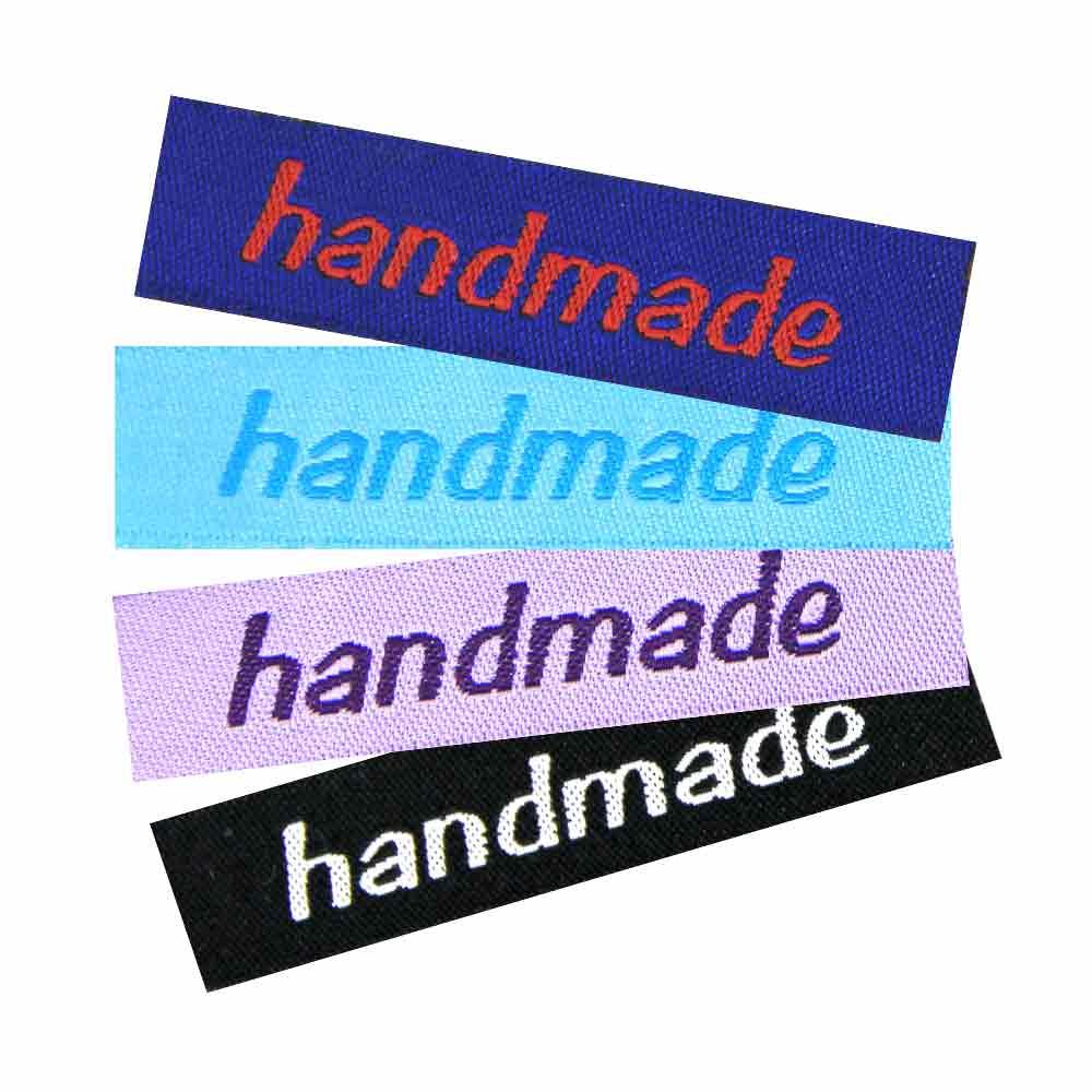 10 Textiletiketten Handmade
