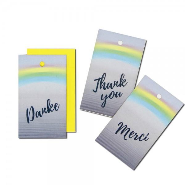 "Hang tag ""THANK YOU"" - rainbow"