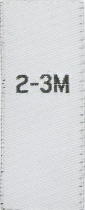 Größenetiketten für Kinder 2-3