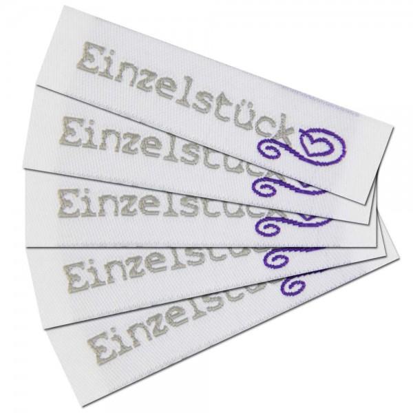 """Fix&Fertig - Étiquette textile """"Einzelstück"""""""