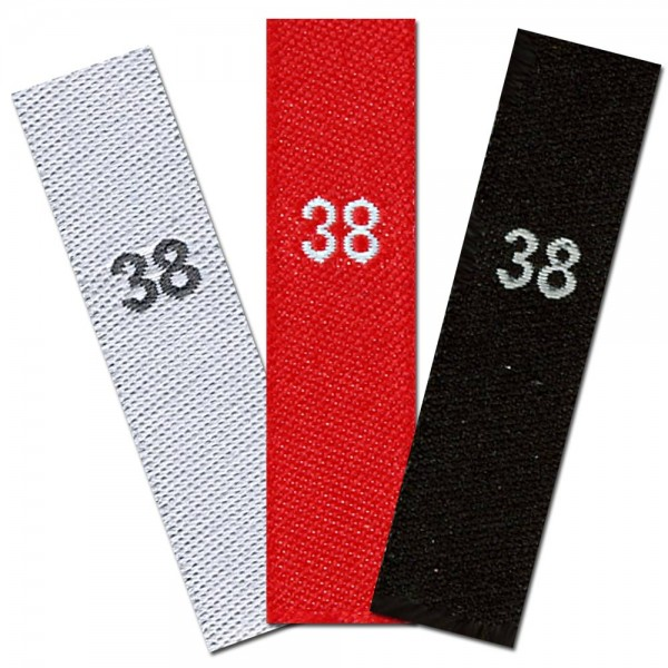 woven size labels - number 38