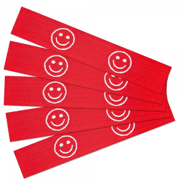 label-textile-woven-smiley