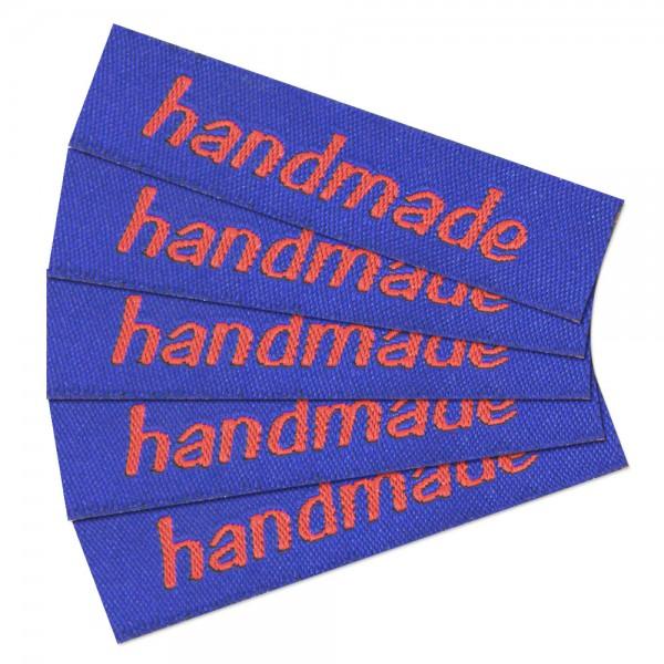 """Fix&Fertig - Étiquette textile """"handmade"""" 2 - petite"""