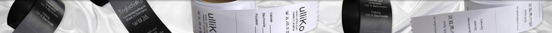 Grandes étiquettes lavage