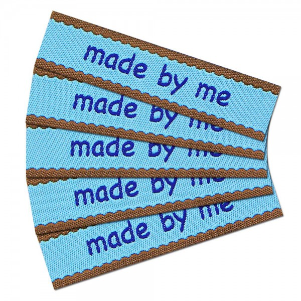 "Woven Label with design ""made by me"""