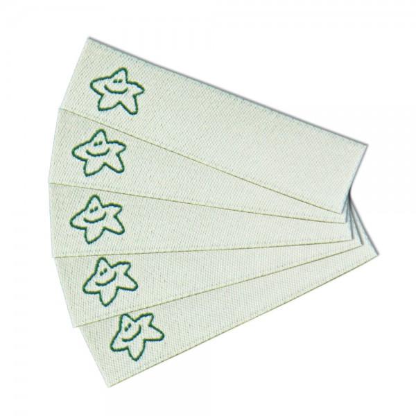 Textiletikett zum Beschriften Star, Bügeletiketten