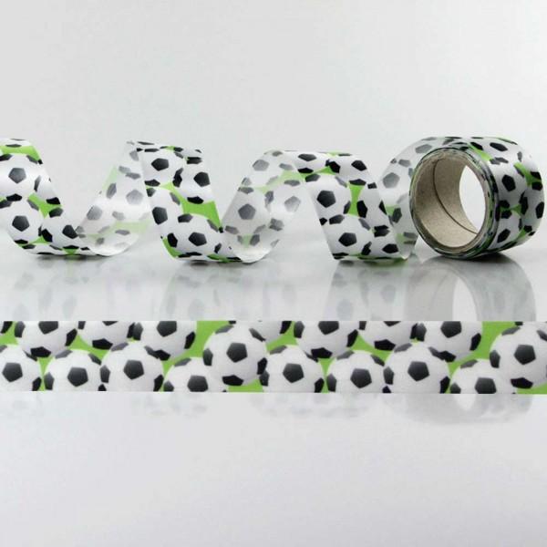 Satin-Geschenkband Fußball, Dekoband