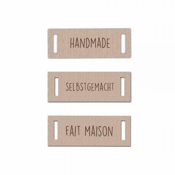 "Hang tag ""HANDMADE"" landscape"