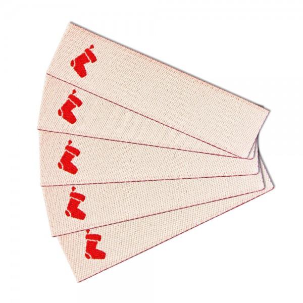 Textiletikett zum Beschriften Stiefel, Webetikett