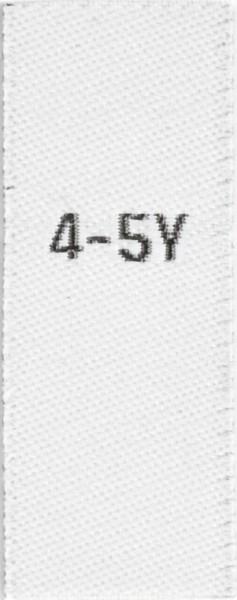 Größenetiketten für Kinder 4-5y