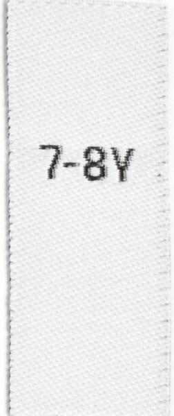 Größenetiketten für Kinder 7-8y